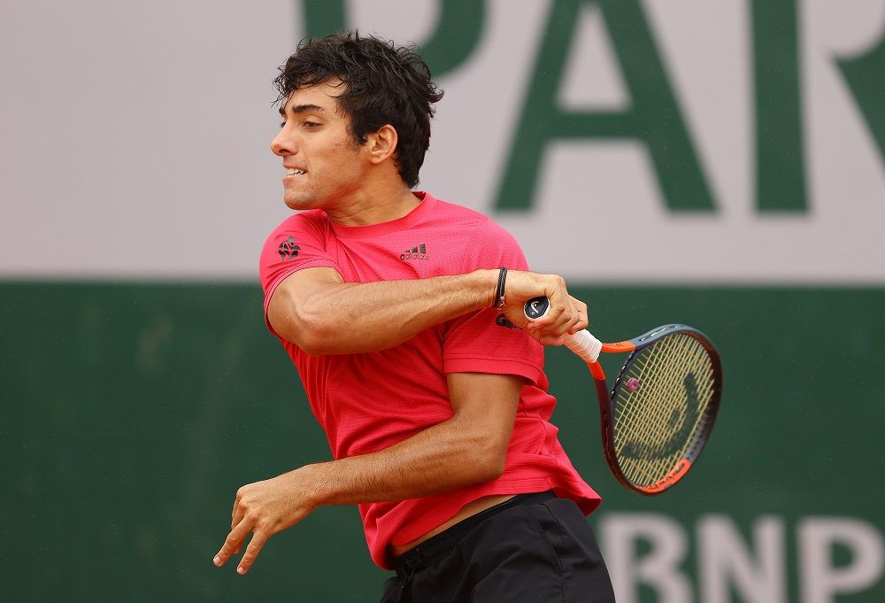 Cristian Garin in the first round of Roland Garros 2020, France