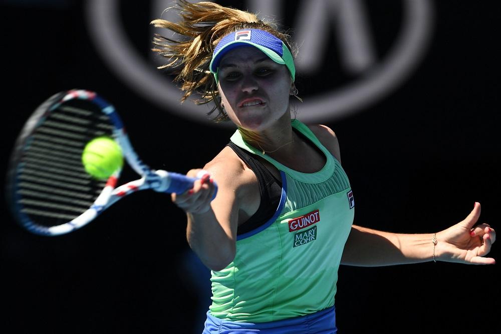 Sofia Kenin in the semi-final of the 2020 Australian Open, Melbourne