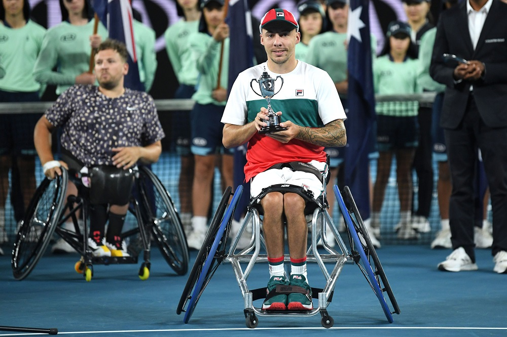 Andy Lapthorne, runner-up in the Quad Wheelchair Singles Final at the 2020 Australian Open, Melbourne