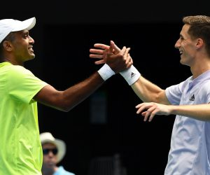 Joe Salisbury & Rajeev Ram in the final of the 2020 Australian Open, Melbourne