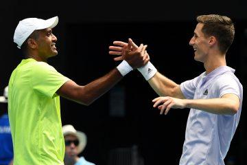 Joe Salisbury & Rajeev Ram in the final of the 2020 Australian Open, Melbourne
