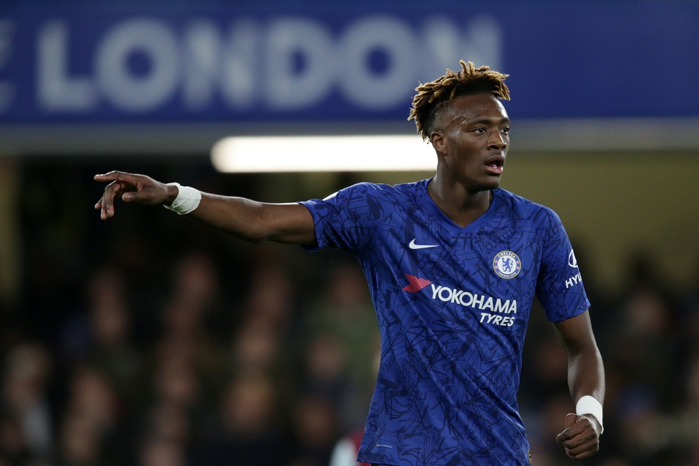 Tammy Abraham in the Premier League match between Chelsea & Burnley, 2020