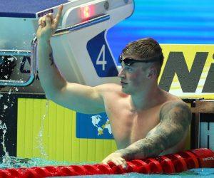 Adam Peaty after winning the Men's 50m Breaststroke at the Fina World Championships 2019, S Korea