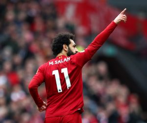 Mohamed Salah in the Premier League match between Liverpool and AFC Bournemouth, 2020