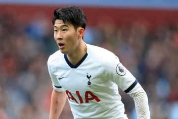 Son Heung-Min in the Premier League match between Aston Villa and Tottenham Hotspur, 2020