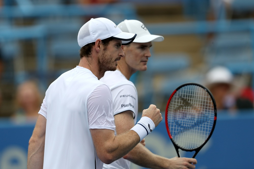 Andy and Jamie Murray at the Citi Open, 2019