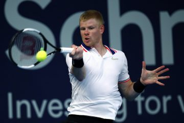 Kyle Edmund on the first day of Schroders Battle of the Brits in London, England