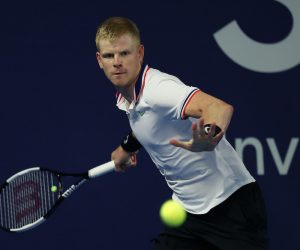Kyle Edmund on Day Two of the Schroders Battle of the Brits in London, England