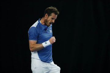 Andy Murray on Day 1 of the Schroders Battle of the Brits 2020, London, England