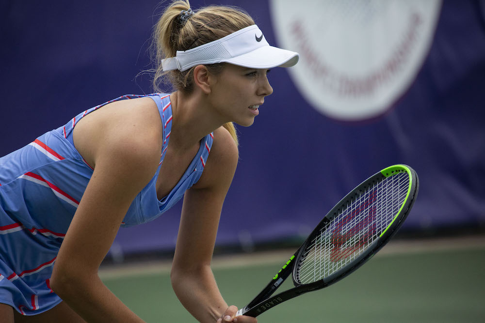 Katie Boulter on Day 1 of the Progress Tour Women's Championships 2020, London UK