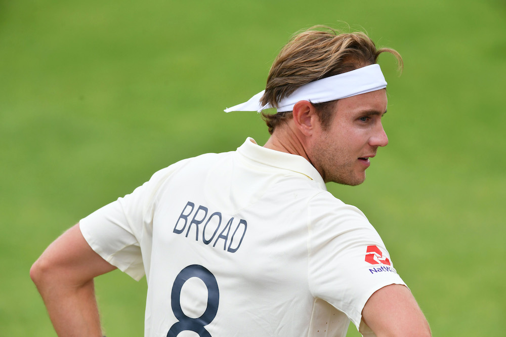 Stuart Broad in the Third Test England v West Indies 2020
