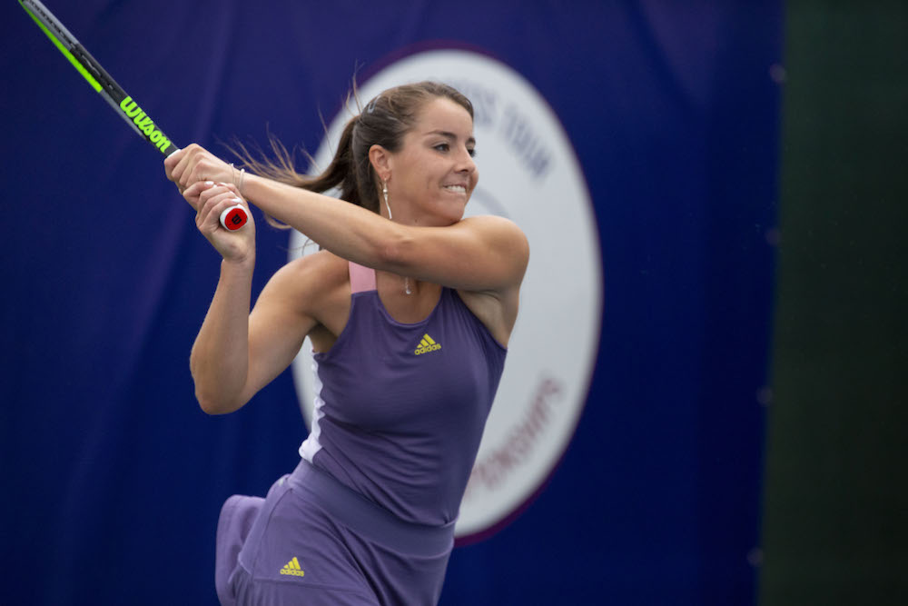 Jodie Burrage on Day 1 of the Progress Tour Women's Championships, London