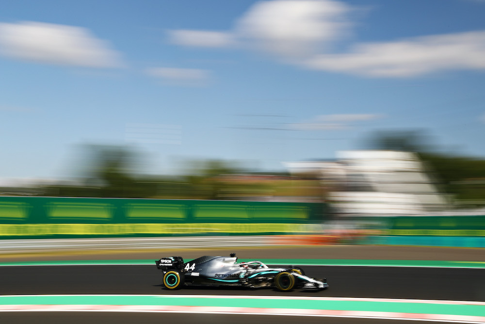 Lewis Hamilton in the 2019 Hungarian Grand Prix