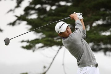 Collin Morikawa from the 16th tee on the final round of the 2020 PGA Championship, San Francisco, California