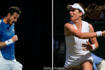 Andy Murray and Johanna Konta will compete in the St James Place Battle of the Brits 2020, London UK