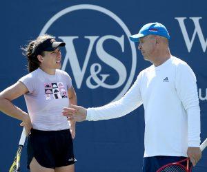 Thomas Hogstedt & Johanna Konta at the 2020 Western & Southern Open, New York, USA