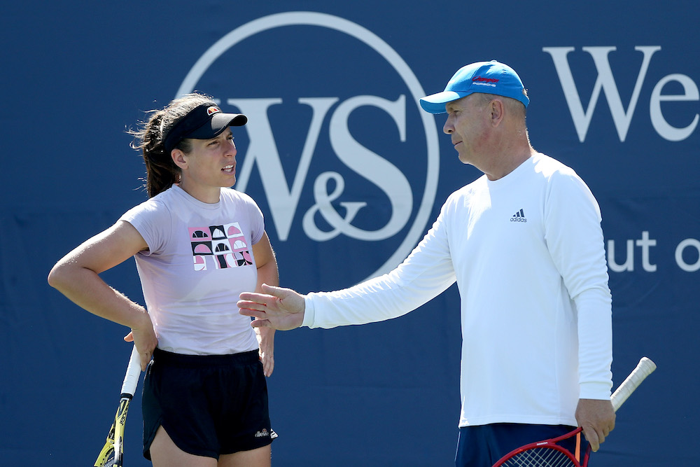 Thomas Hogstedt & Johanna Konta at the 2020 Western & Southern Open, New York, USA