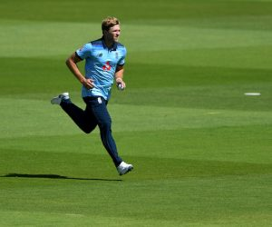 David Willey during the 1st ODI between England and Ireland 2020, Southampton UK