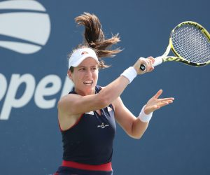 Johanna Konta in the first round of the 2020 US Open, New York, USA