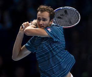 Daniil Medvedev on Day Two of the 2020 Nitto ATP World Tour Finals in London, UK