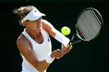 Samantha Murray-Sharan in the qualifying rounds of 2019 Wimbledon, London UK