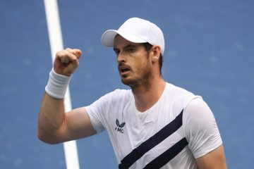 Andy Murray in the first round of the 2020 US Open, New York, USA