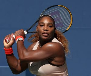 Serena Williams in the fourth round of the 2020 US Open, New York, USA