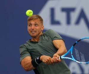 Lloyd Glasspool at the 2020 Battle of the Brits Team Tennis, London, UK