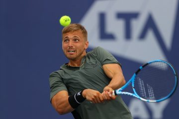 Lloyd Glasspool at the 2020 Battle of the Brits Team Tennis, London, UK