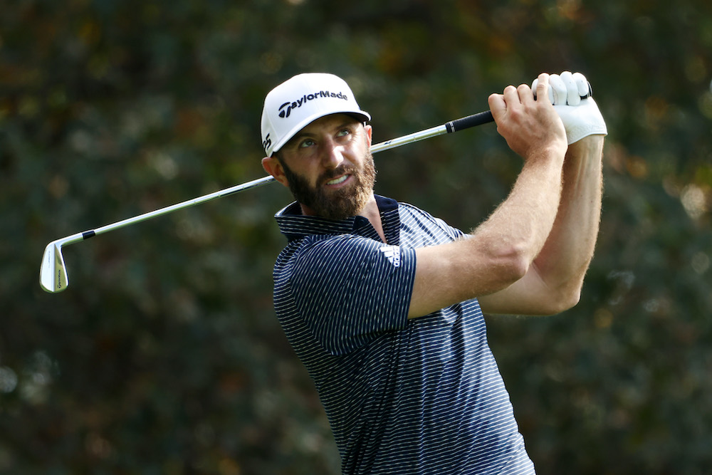 Dustin Johnson in the final round of the Masters 2020 at Augusta, Georgia