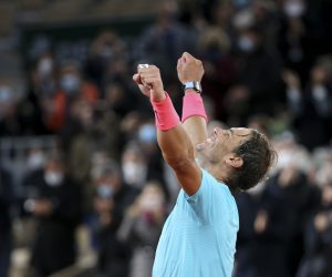 Rafael Nadal after winning the 2020 Roland Garros, Paris, France