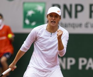 Iga Swiatek in the 2020 Roland Garros Final, Paris, France