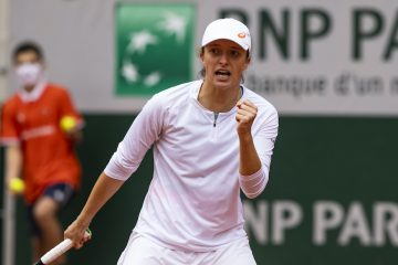Iga Swiatek in the 2020 Roland Garros Final, Paris, France