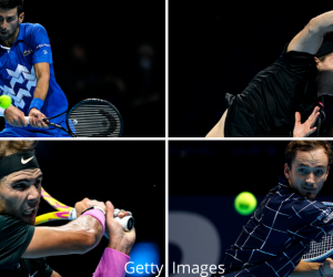 The semi-finalists of the 2020 Nitto ATP Finals - Novak Djokovic, Rafael Nadal, Dominic Thiem & Daniil Medvedev