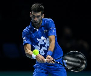 Novak Djokovic on Day 2 of the 2020 Nitto ATP Finals, London, UK