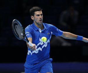 Novak Djokovic on Day Four of the 2020 Nitto ATP Finals, London, UK