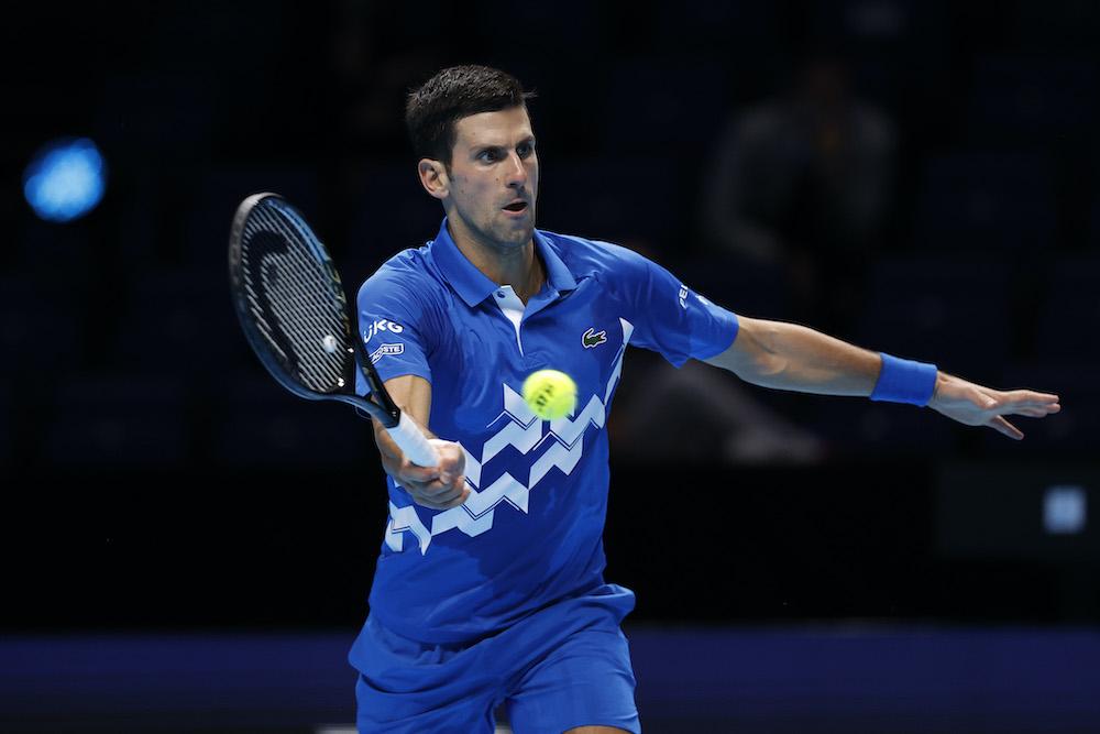 Novak Djokovic on Day Four of the 2020 Nitto ATP Finals, London, UK