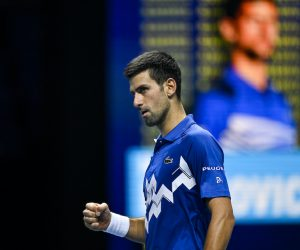 Novak Djokovic on Day 6 of the Nitto ATP Finals, London, UK