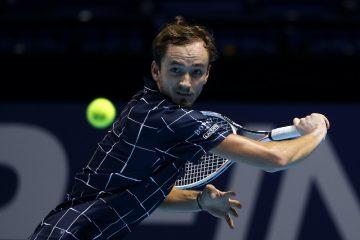 Daniil Medvedev on Day 2 of the 2020 Nitto ATP Finals, London, UK