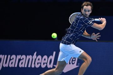 Daniil Medvedev on Day 4 of the 2020 Nitto ATP Finals, London, UK