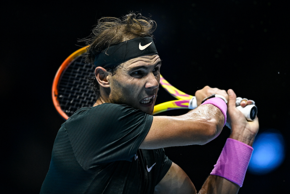 Rafael Nadal on Day 3 of the 2020 Nitto ATP Finals, London, UK