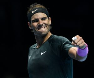 Rafael Nadal on Day 5 of the 2020 Nitto ATP Finals, London, UK