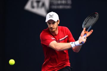 Andy Murray on Day 1 of the 2020 Battle of the Brits Premier League of Tennis, London, UK
