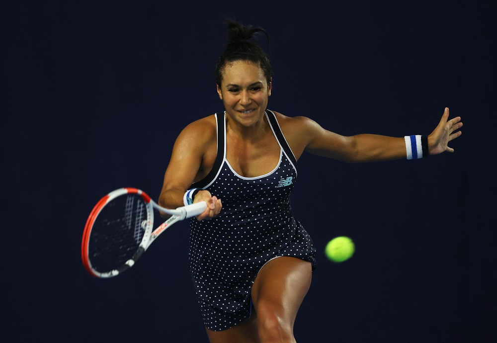 Heather Watson on the third day of the 2020 Battle of the Brits Premier League of Tennis, London, UK