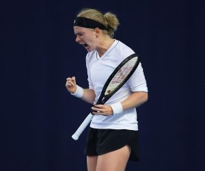Francesca Jones in the 2020 Battle of the Brits Premier League of Tennis, London UK