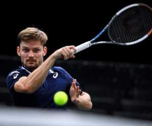 David Goffin at the 2020 Paris Masters, France