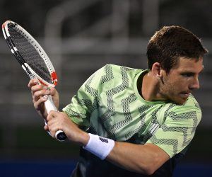 Cameron Norrie in the quarter-final of the 2021 Delray Beach Open, USA