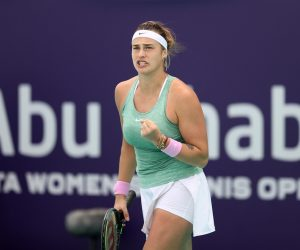 Aryna Sabalenka in the final of the 2020 WTA Abu Dhabi Women's Tennis Open, UAE