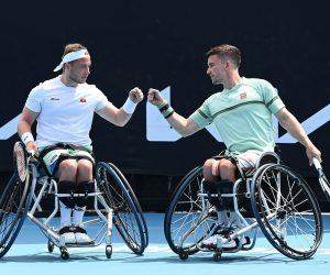 Alfie Hewett & Gordon Reid at the 2021 Australian Open, Melbourne