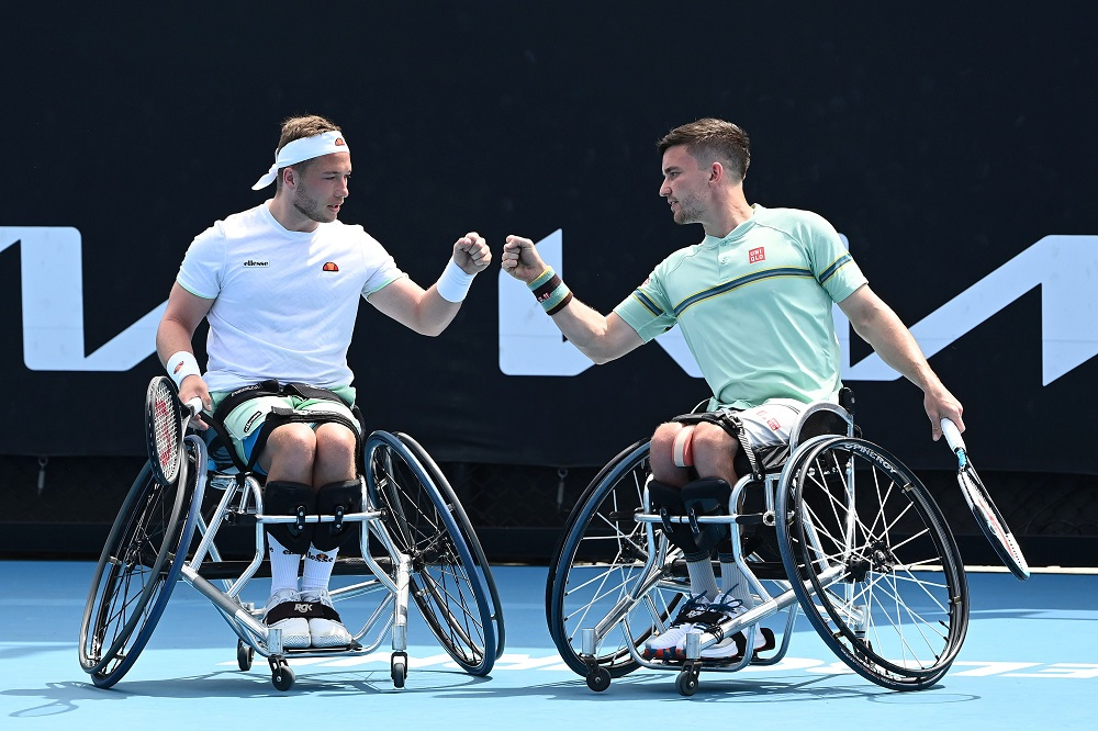 Alfie Hewett & Gordon Reid at the 2021 Australian Open, Melbourne